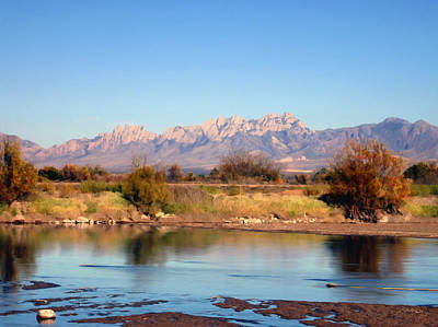 Las Cruces Digital Art - River View Mesilla by Kurt Van Wagner