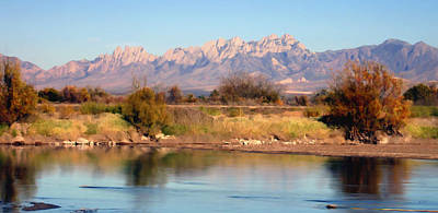 Las Cruces Digital Art - River View Mesilla Panorama by Kurt Van Wagner