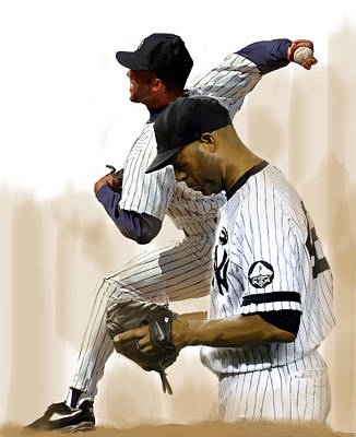 Pitcher Drawing - Rivera   Mariano Rivera  by Iconic Images Art Gallery David Pucciarelli