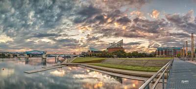 Riverfront Pier Sunrise  Print by Steven Llorca