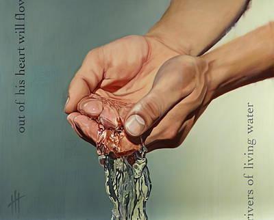 Rivers Of Living Water IIi  Print by Hannah  Harris