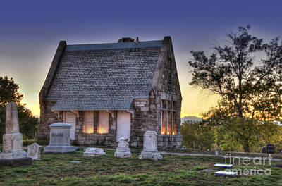 Stone House Photograph - Riverside Cemetery by Juli Scalzi