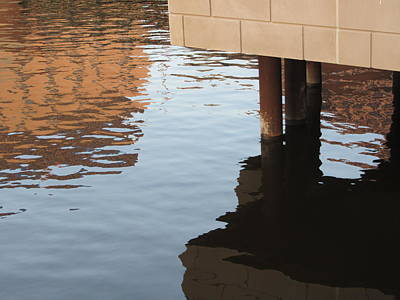 Riverwalk Photograph - Riverwalk Low View Refections by Anita Burgermeister