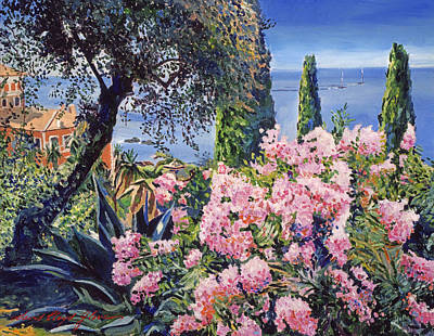 Italian Landscapes Painting - Riviera Coast by David Lloyd Glover