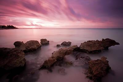 Riviera Maya Sunrise Print by Adam Romanowicz