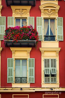 Europa Photograph - Riviera Windows by Inge Johnsson