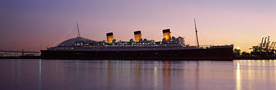 Queen Mary Photograph - Rms Queen Mary In An Ocean, Long Beach by Panoramic Images