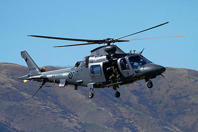 Helicopter Photograph - Rnzaf Augustawestland A109 Helicopter by David Wall