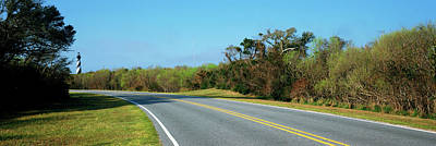 Cape Hatteras Lighthouse Photograph - Road Leading Towards A Lighthouse, Cape by Panoramic Images