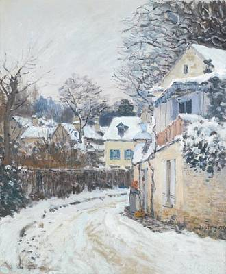 1874 Drawing - Road Louveciennes by Alfred Sisley