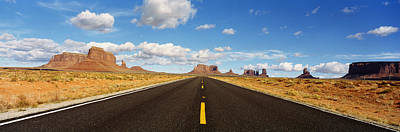 Converging Photograph - Road, Monument Valley, Arizona, Usa by Panoramic Images
