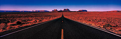 Black Top Photograph - Road Monument Valley Tribal Park Ut Usa by Panoramic Images