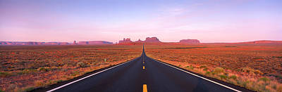 Converging Photograph - Road Monument Valley, Utah, Usa by Panoramic Images