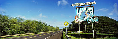 Haleiwa Photograph - Road Sign At The Roadside, Haleiwa by Panoramic Images