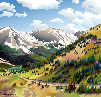 Rocky Mountains Digital Art - Road To Alma by Anne Gifford