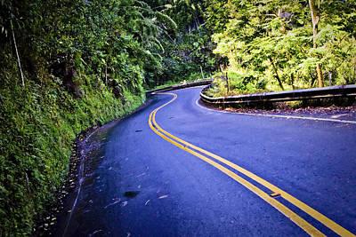Twisty Photograph - Road To Hana by Adam Romanowicz
