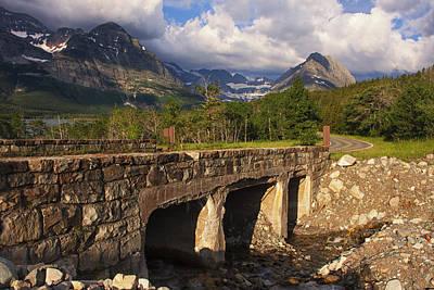 Stone Bridge Photograph - Road To Many Glacier by Mark Kiver
