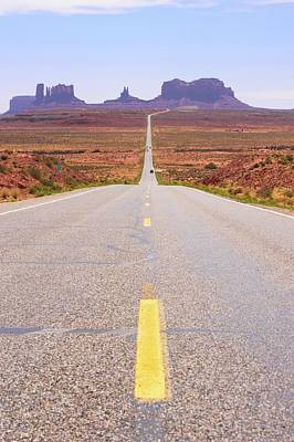 Black Top Photograph - Road To Monument Valley. by Mark Williamson