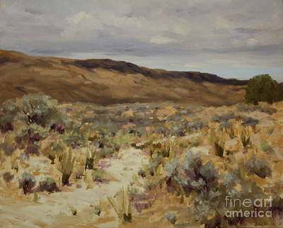 Desert Painting - Road To Nespelem by Nora Egger
