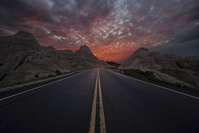 Badlands Photograph - Road To Nowhere Badlands by Aaron J Groen