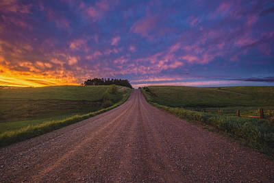 Road To Nowhere El Print by Aaron J Groen