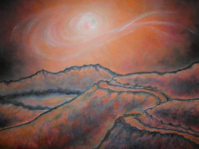 Abstract Using Brilliant Colors Painting - Road To Nowhere by Marianne Stokes