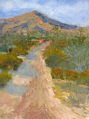 Sonoran Desert Painting - Road To  by Terry Gonzales Fine Art