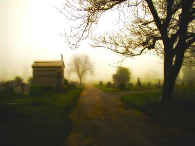 Road To The Mausoleum Print by Gothicolors Donna Snyder