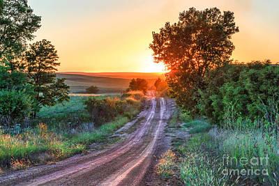 Road To The Sun Print by Jill Van Doren Rolo