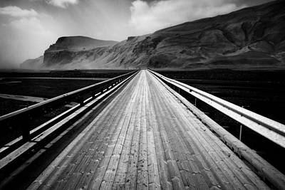 Solitude Photograph - Road To Vik by Dave Bowman
