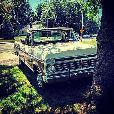 Truck Photograph - Road Tripping In This Bad Boy Today by Caleb Daugherty