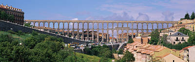 Rooftop Photograph - Road Under An Aqueduct, Segovia, Spain by Panoramic Images