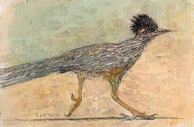 Roadrunner Drawing - Roadrunner by Sandra Lytch