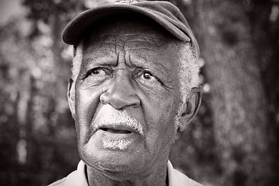 Bible Verse Photograph - Roadside Farmer Preacher by Toni Hopper