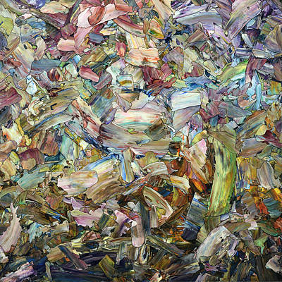 Fragment Painting - Roadside Fragmentation - Square by James W Johnson