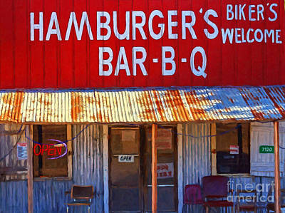 Roadside Hamburger Joint 20130309 Print by Wingsdomain Art and Photography