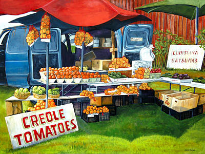 Pepper Painting - Roadside Market by Elaine Hodges