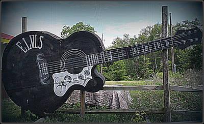 Roadside Tribute To Elvis Original by Dora Sofia Caputo Photographic Art and Design