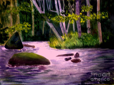 Barton Painting - Roaring Brook In Barton Vt by Donna Walsh
