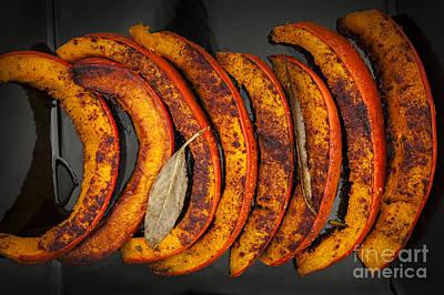 Roasted Pumpkin Slices Print by Elena Elisseeva