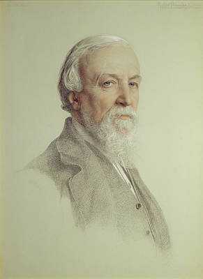 Robert Browning , 1881 Print by Anthony Frederick Augustus Sandys