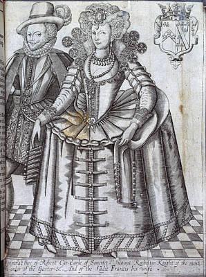 Robert Car And Ladie Francis Print by British Library