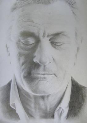 Celebrities Drawing - Robert De Niro Pencil Drawing by Bruce McLachlan