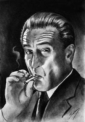 Drawing - Robert De Niro by Salman Ravish