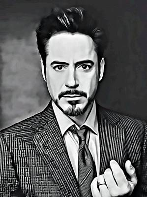 Robert Downey Jr Print by Florian Rodarte