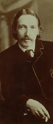 Robert Louis Stevenson Print by English School