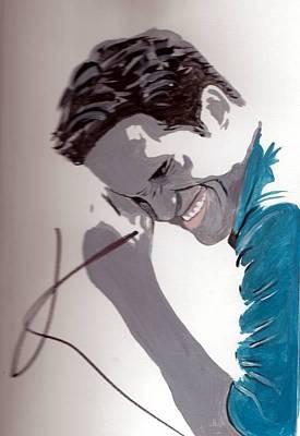 Robert Pattinson 48a Print by Audrey Pollitt