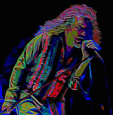 Robert Plant Digital Art - Robert Plant by  Fli Art