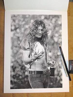 Robert Plant Drawing - Robert Plant by James Dylan
