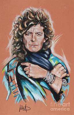 Singer Drawing - Robert Plant by Melanie D